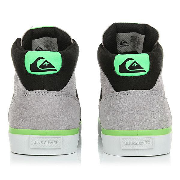 Кеды высокие детские Quiksilver Burc Mid Grey/Green