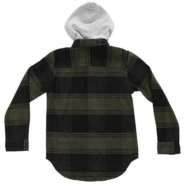Рубашка в клетку детская DC Runnel Boy Dark Olive