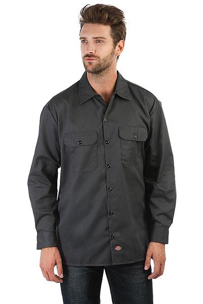 Рубашка Dickies Long Sleeve Work Shirt Charcoal Grey