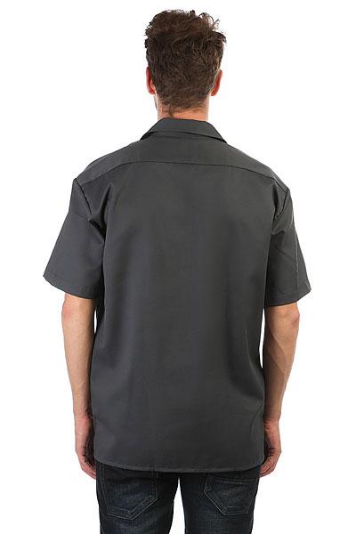 Рубашка Dickies Short Sleeve Work Shirt Charcoal Grey
