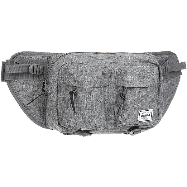 Сумка поясная Herschel Eighteen Raven Crosshatch
