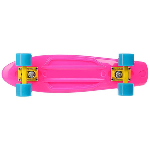 Скейт мини круизер Sulov Neon Розовый 5.75 X 22 (55.9 СМ)