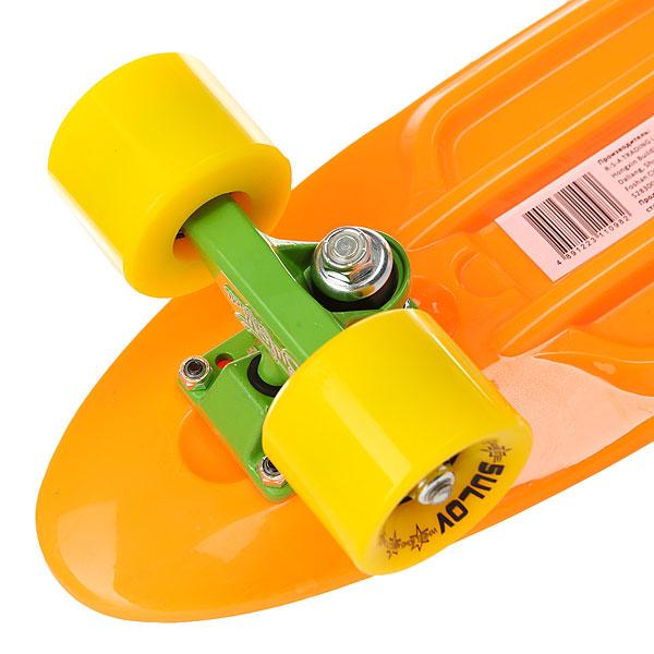 Скейт мини круизер Sulov Neon Оранжевый 5.75 X 22 (55.9 См)