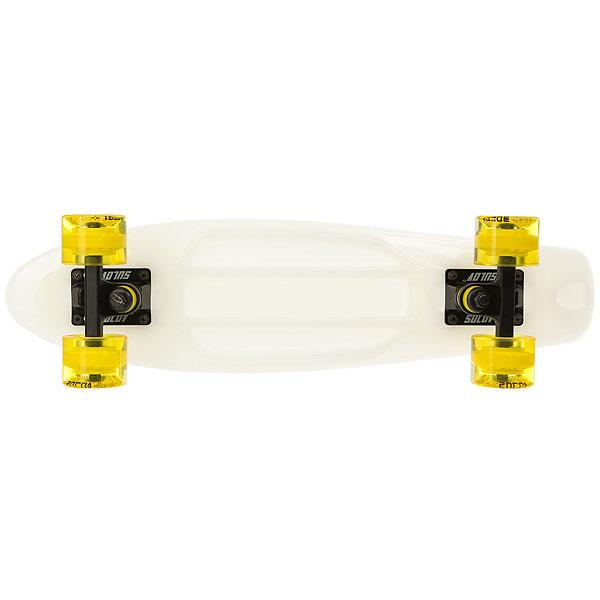 Скейт мини круизер меняющий цвет на солнце Sulov Sunshine Желтый 5.75 X 22 (55.9 см)