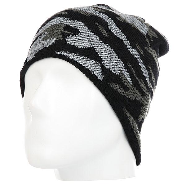 Купить Шапка Quiksilver Knox Beanie Hats Black Grey Camokazi 1182259