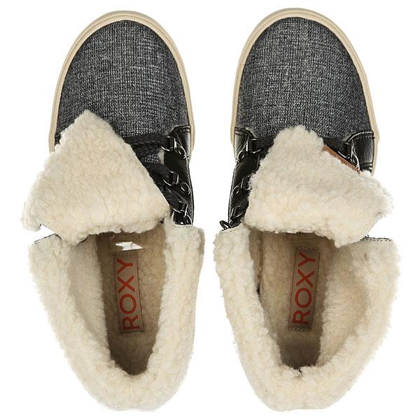 Кеды утепленные женские Roxy Albany Boot Charcoal