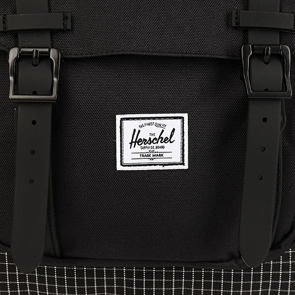 Рюкзак Herschel Little America Mid-volume Black Grid/Black Rubber