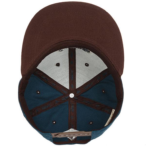 Бейсболка с прямым козырьком Запорожец Logo Dark Blue/Brown