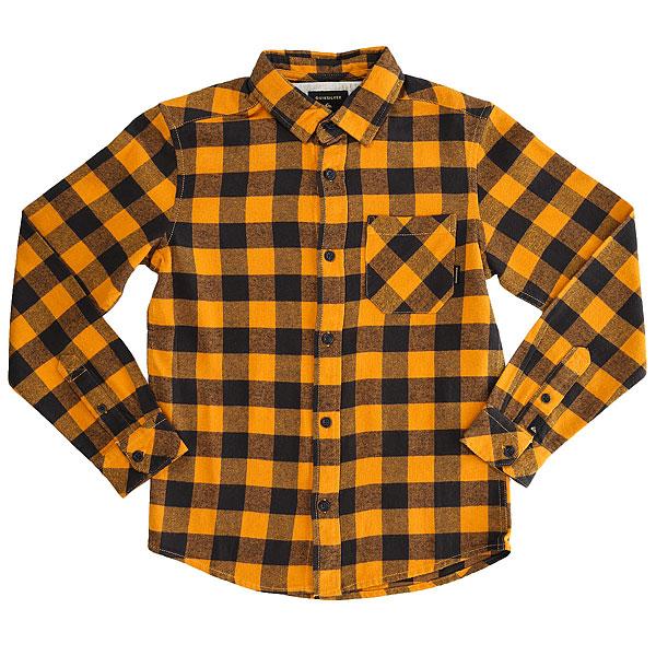 Рубашка в клетку детская Quiksilver Motherflyflayth Golden Oak Motherfly