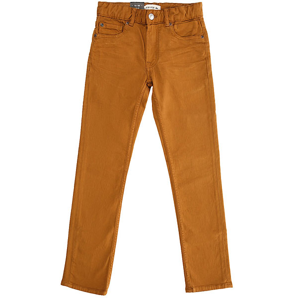 Джинсы узкие детские Quiksilver Distorscolorsyt Pant Bone Brown