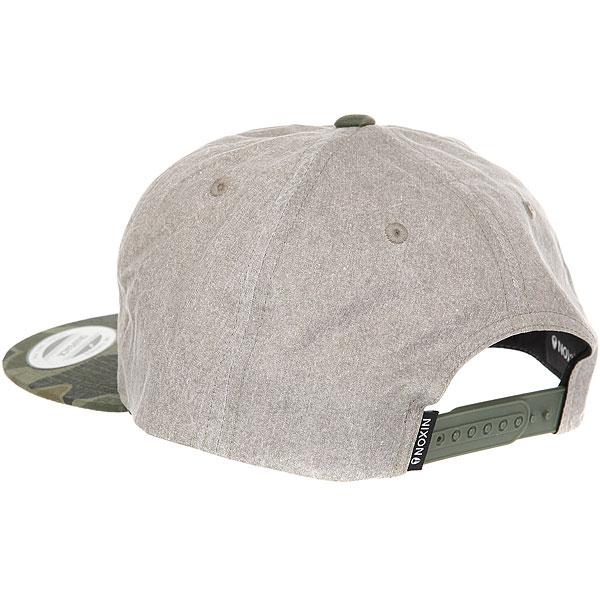 Бейсболка с прямым козырьком Nixon Beachside Snap Back Hat Khaki/Camo