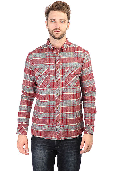 Рубашка в клетку Quiksilver Riverback Pomegranite River Ba