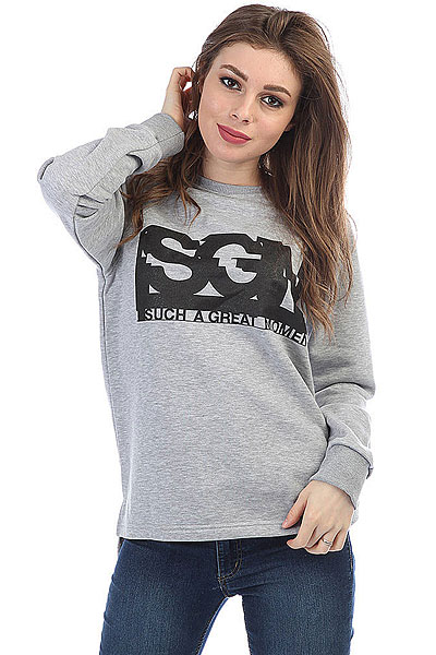 Купить Джемпер женский S.G.M. Siri/2 Grey Melange 1183287