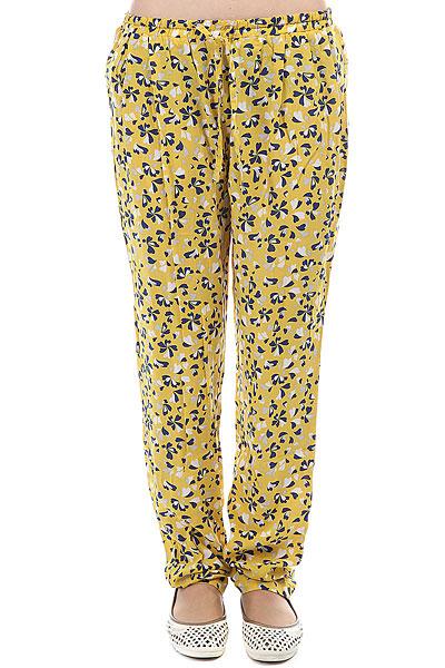 Штаны широкие женские Flicka My Tranquilo Yellow Flowers