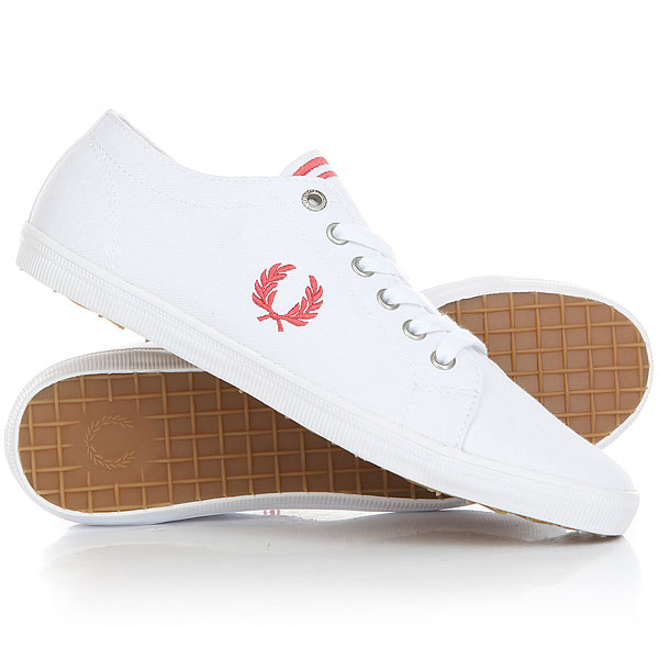 Кеды низкие Fred Perry Kingston Twill White