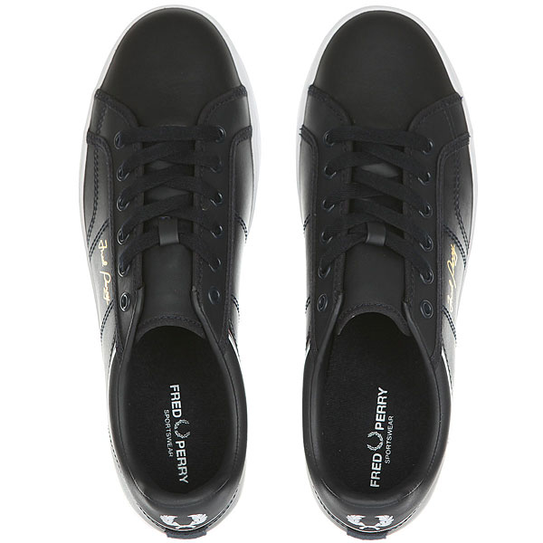 Кеды низкие Fred Perry Sidespin Leather Navy/White
