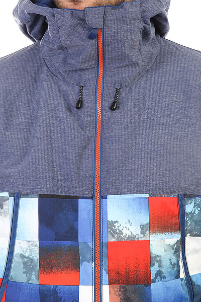 Куртка утепленная Quiksilver Sierra Blue Red Icey Check