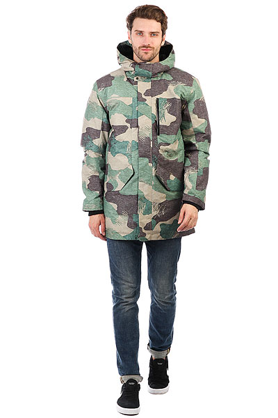 Куртка зимняя Quiksilver Ice Punch Grape Leaf Scratch