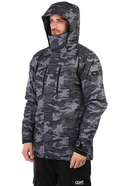 Куртка утепленная Quiksilver Mission Pr Black Grey Camokazi