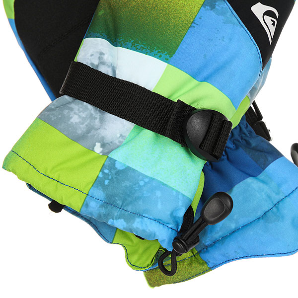 Варежки детские Quiksilver Mission You Mit Blue Sulphur Icey