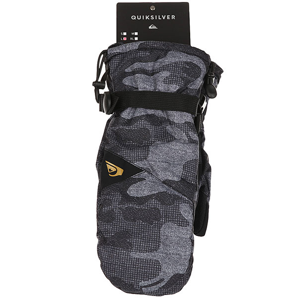 Варежки Quiksilver Mission Mitt Black Grey Camokazi