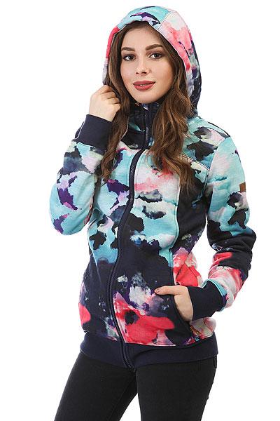 Толстовка сноубордическая женская Roxy Frost Printed Neon Grapefruit_clou