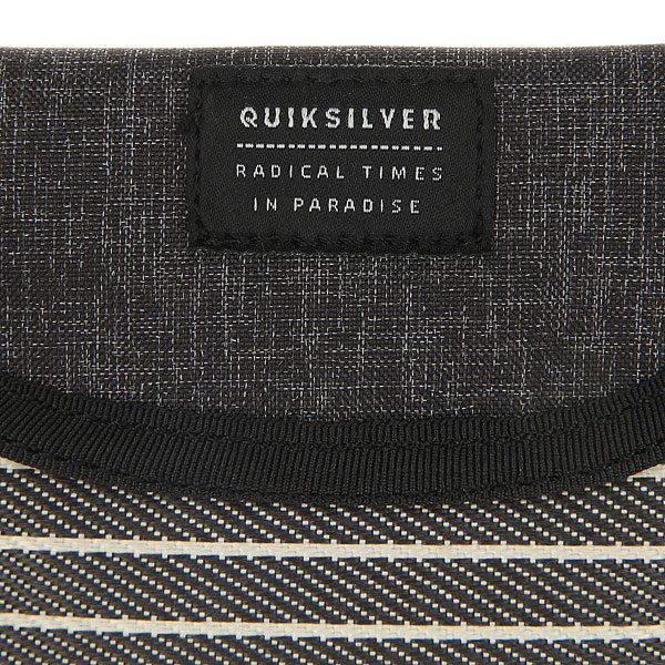 Визитница Quiksilver Scalopwalletplu Dark Grey Heather