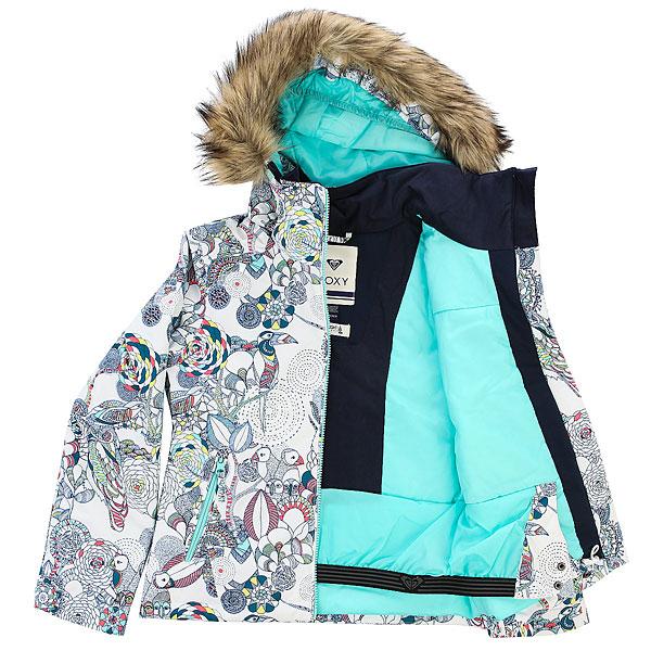 Куртка утепленная детская Roxy Jet Ski Girl G Snjt Bright White_hackney