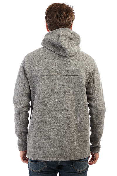 Толстовка утепленная Quiksilver Into The Wildfl Grey Heather