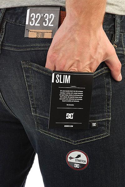 Джинсы узкие DC Worker Slim Medium Stone