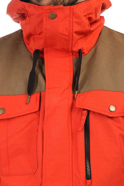 Куртка утепленная Quiksilver Raft Ketchup Red