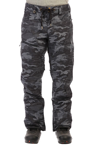 Штаны сноубордические Quiksilver Forest Oak Black Grey Camokazi