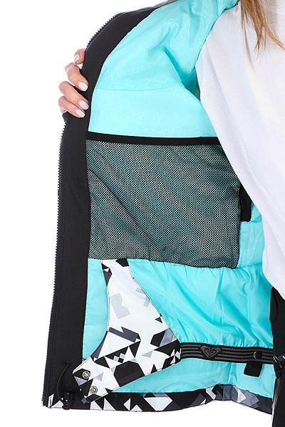 Куртка утепленная женская Roxy Jet Ski Prem Bright White_geodeco