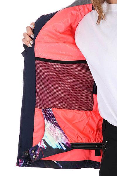 Куртка утепленная женская Roxy Jet Ski Prem Peacoat_seamless Fea