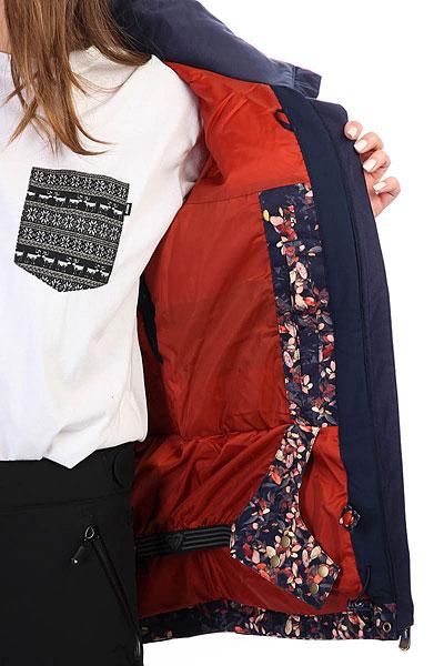 Куртка утепленная женская Roxy Rx Jetty Peacoat_waterleaf