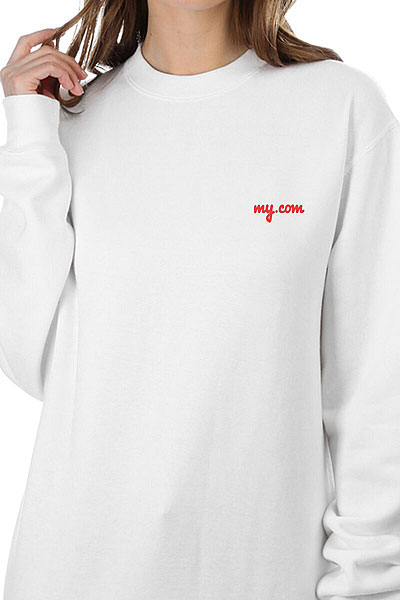 Свитшот Женский My.com Logo Белый