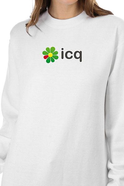 Свитшот Женский Icq Logo Белый