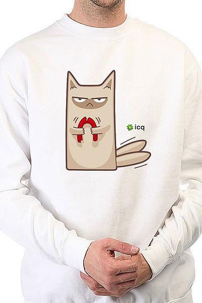 Свитшот Icq Angrycat Белый