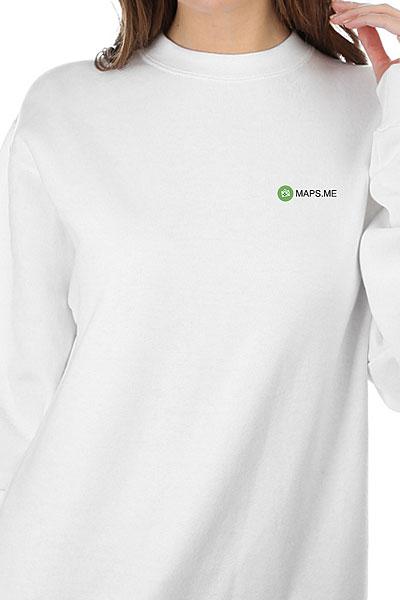 Свитшот Женский Mapsme Logo Белый