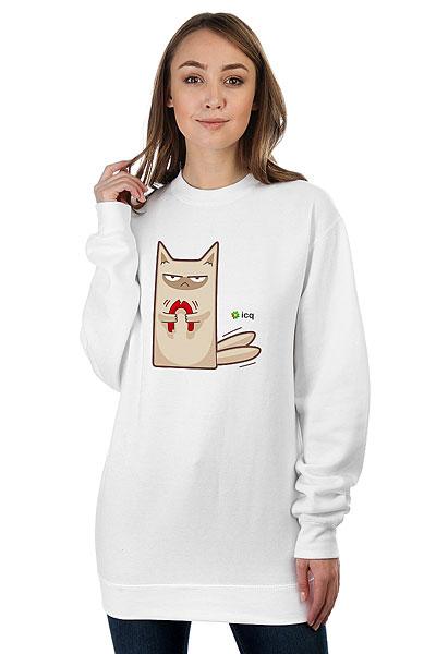 Свитшот Женский Icq Angrycat Белый