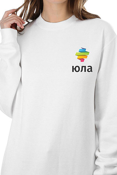 Свитшот Женский Юла Logo Белый