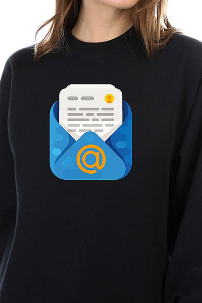 Свитшот Женский Mail.ru Mail Черный