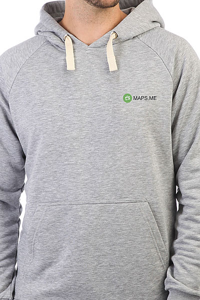 Толстовка Wearcraft Premium Mapsme Logo Серый Меланж