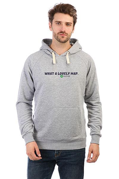 Толстовка Wearcraft Premium Mapsme What A Lovey Map Серый Меланж