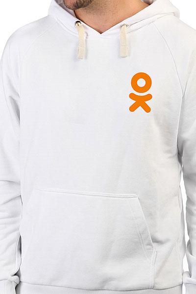 Толстовка Wearcraft Premium Одноклассники Logo Белая