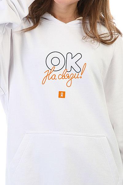 Толстовка Wearcraft Premium Женская Одноклассники Ok Connected Белая