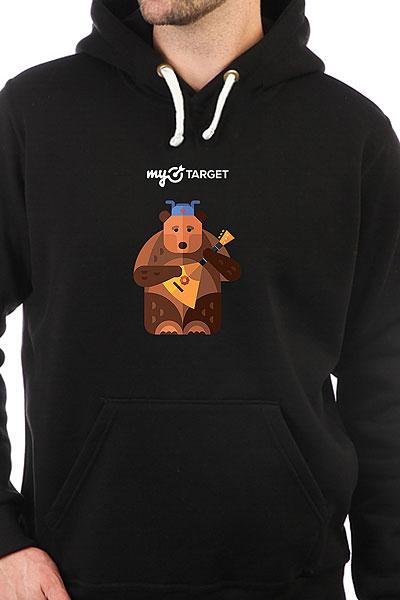Толстовка Wearcraft Premium Mytarget Medved Черная