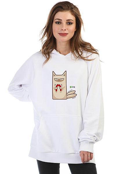 Толстовка Wearcraft Premium Женская Icq Angrycat Белая