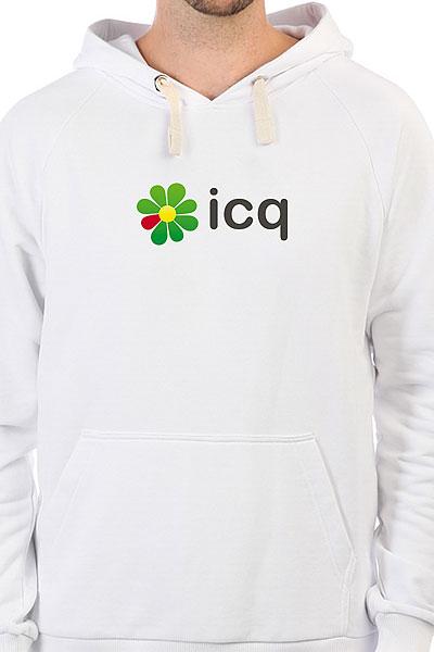 Толстовка Wearcraft Premium Icq Logo Белая