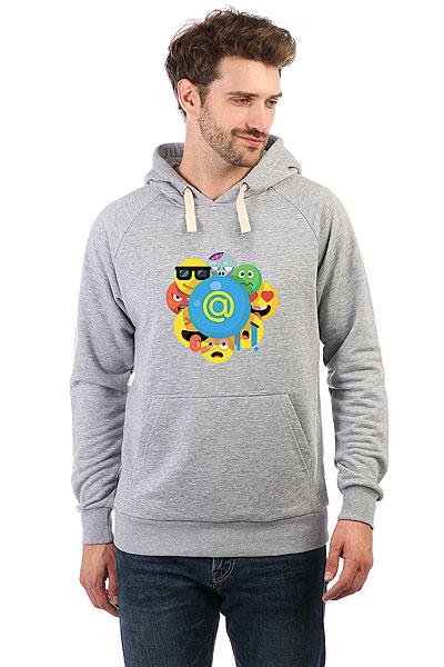 Толстовка Wearcraft Premium Mail.ru Smile Серый Меланж